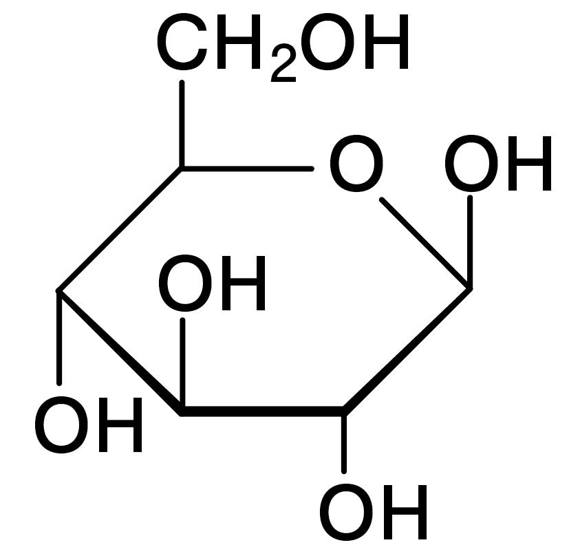 グルコース(β-D-Glucose)の構造図_リケラボ
